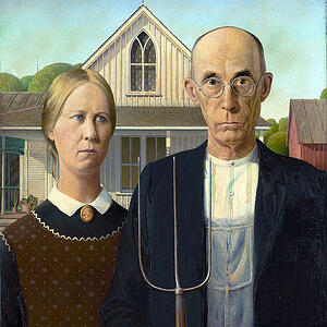 American Gothic – Grant Wood, image courtesy of Wikimedia Commons