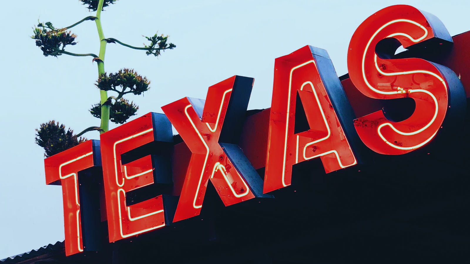Sign of the word Texas
