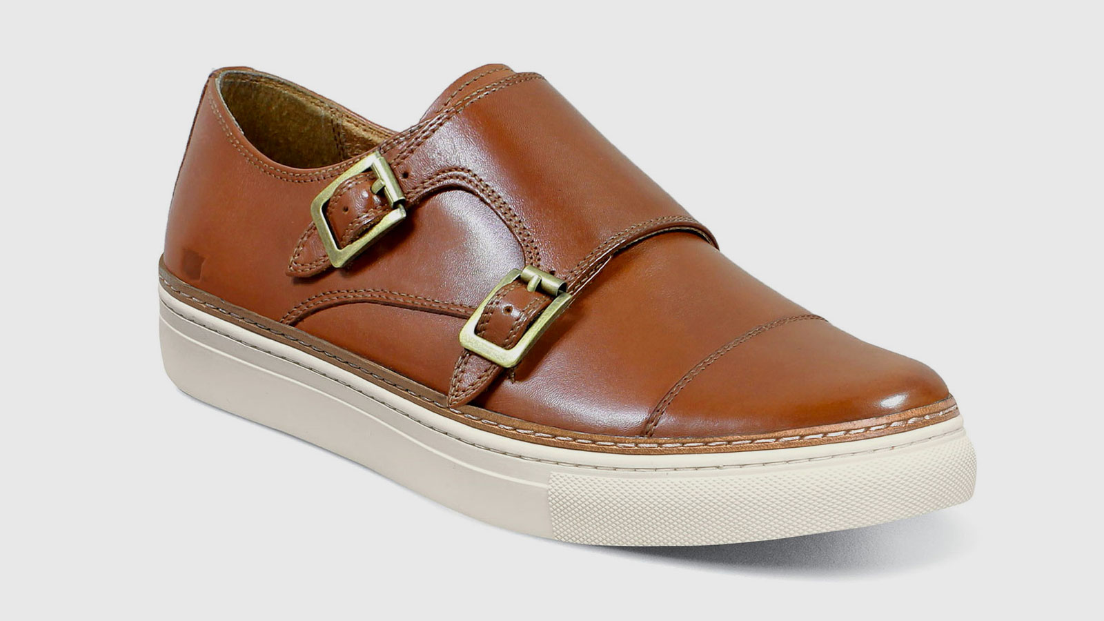Florsheim Press Cap Toe Double Monk Sneakers